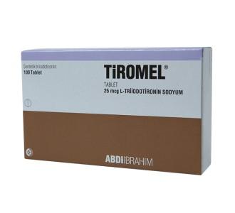 Tiromel T3 - 100 tabs 25 mcg per tab