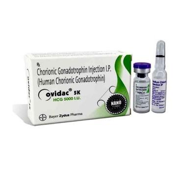 Ovidac (HCG) 5000 iu/amp + 1 amp solvent