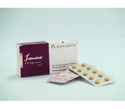Femara (Letrozole)  30 tabs 2.5 mg/tab