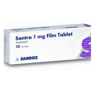 Santra (Anastrozole) 28tabs 1mg/tab
